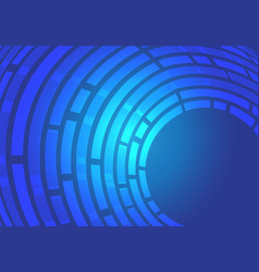 abstract blue line curve data light motion vector image
