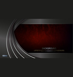 abstract dark textured red background gray arched vector image