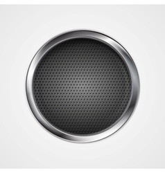 Abstract metal perforated circle background vector image
