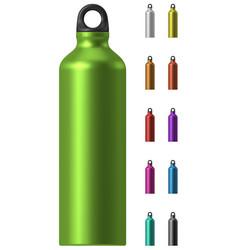 Aluminium water bottle vector