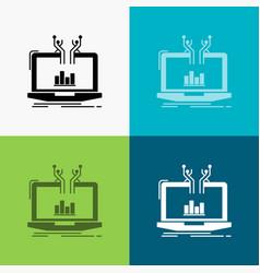 analysis analytical management online platform vector image
