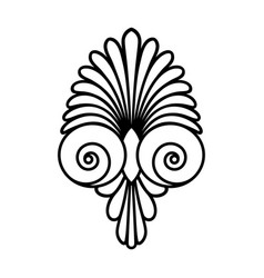 Ancient swirl greek ornament symbol and vector