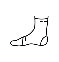 Ankle support linear icon elastic medical vector