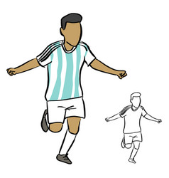 argentina soccer player sketch vector image