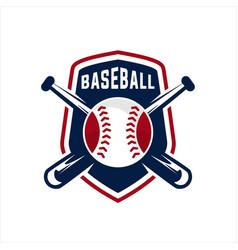 aseball sport badge logo vector image