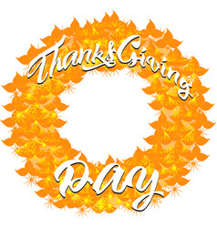 autumn banner from leaves for a thanksgiving day vector image