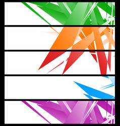 banner templates with abstract geometric art vector image