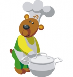 bear cook vector image