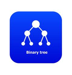 Binnary tree icon blue vector