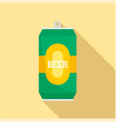 can of fresh beer icon flat style vector image