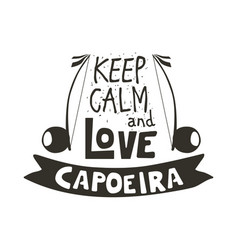 capoeira music poster vector image