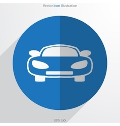 Car web flat icon vector
