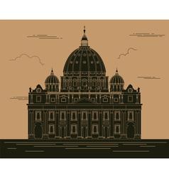 City buildings graphic template Saint Pyotr vector