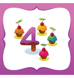 Collection Sweet Numbers for Kids 4 vector image