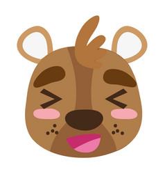 Colorful cheerful bear head wild animal vector