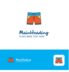 creative shorts logo design flat color logo place vector image