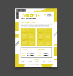 Cv design professional resume with business vector