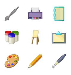 Design equipment icons set cartoon style vector