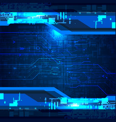 Digital tech abstract background vector