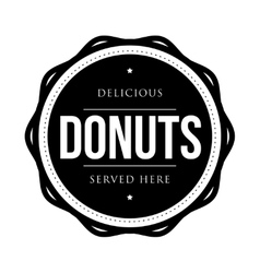 Donuts vintage stamp vector image