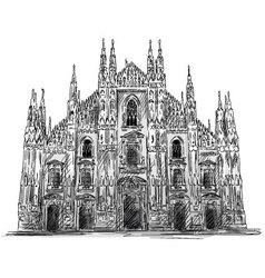 Duomo di Milano vector image