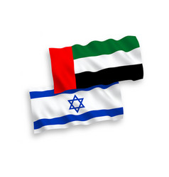 Flags united arab emirates and israel vector