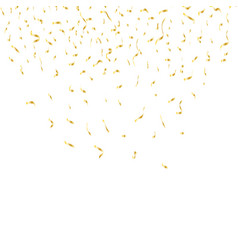 golden confetti isolated on a festive background vector image