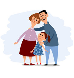 Happy small family vector