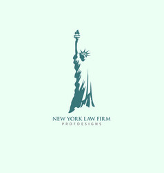 Law firm liberty lawyer immigrant new york logo vector