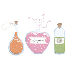 love potion living death design set vector image
