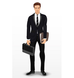 Man in stylish suit businessman vector
