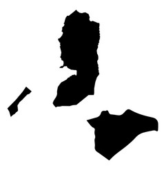 Map state palestine and jerusalem country and vector