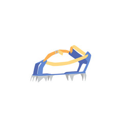 mountaineering or alpinists feet crampons flat vector image