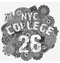 New york t-shirt fashion typography vector