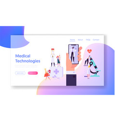 online medicine equipment concept landing page vector image