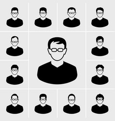 people and man icons set vector image