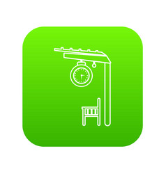 platform railway icon green vector image
