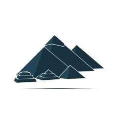 Pyramid monument construction cairo giza egypt vector