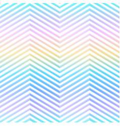 rainbow zigzag seamless pattern vector image