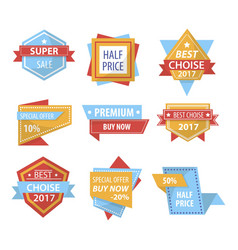 sale and shopping price discount tags vector image