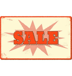 Sale banner with halftone bang shape vector image