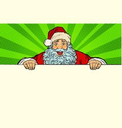 santa claus white background banner vector image