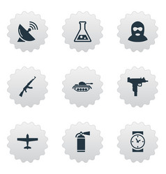 Set of 9 simple battle icons can be found such vector