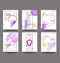 set of banner design templates with abstract vector image