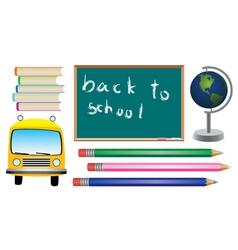 set school symbols vector image