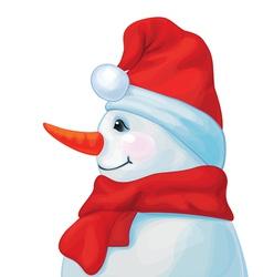 Snowman profil vector