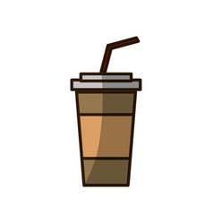 Soda plastic cup vector
