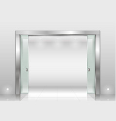 Steel portal and sliding door vector