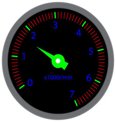 Tachometer dashboard device vector
