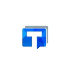 talk letter t logo icon design vector image